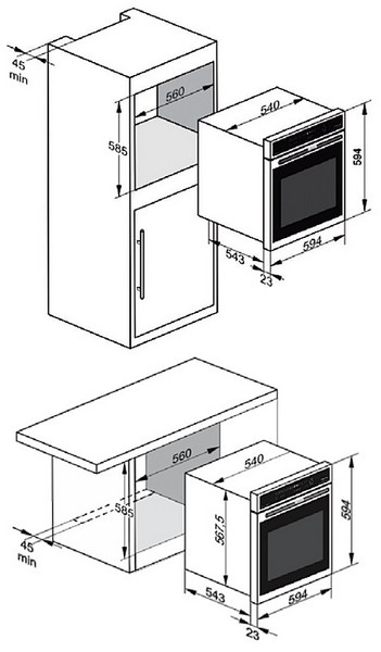 Схема установки Kaiser EG 6370